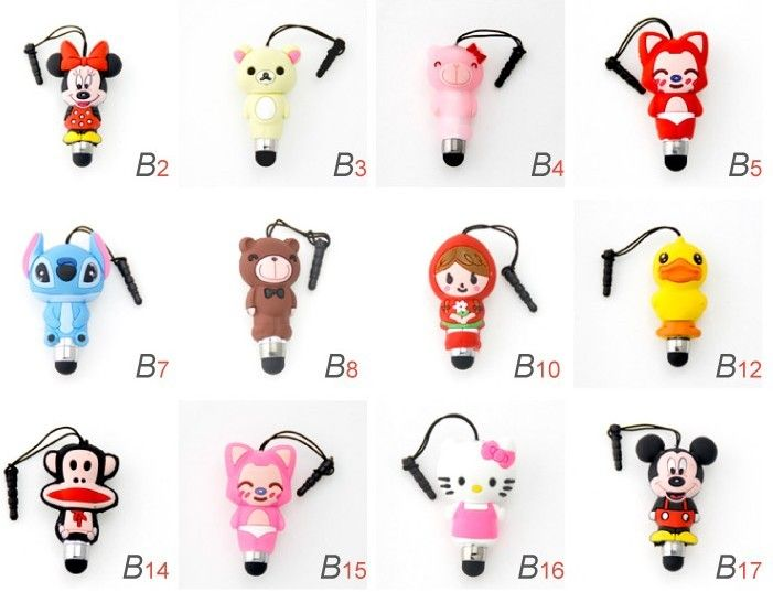 Cute Cartoon Universal Touch Stylus Pen for iPad 2 iPod iPhone 4 4s 3g 3gs, 4s, iPhone 5
