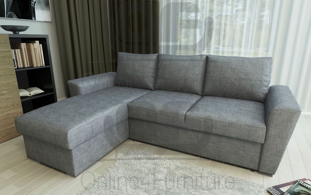 Stanford L Shape Corner Sofa Bed With Lift Up Storage Light Grey Linen Fabric House Furniture Design Furniture Living Room Sofa Set