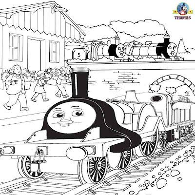 Gordon The Train Coloring Pages