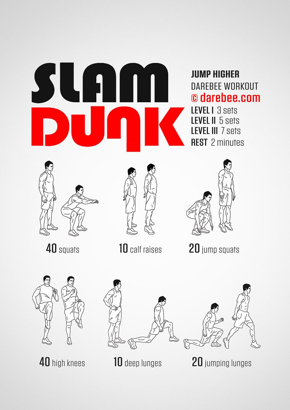 Slam Dunk Workout | Body Weight Exercises | Volleyball