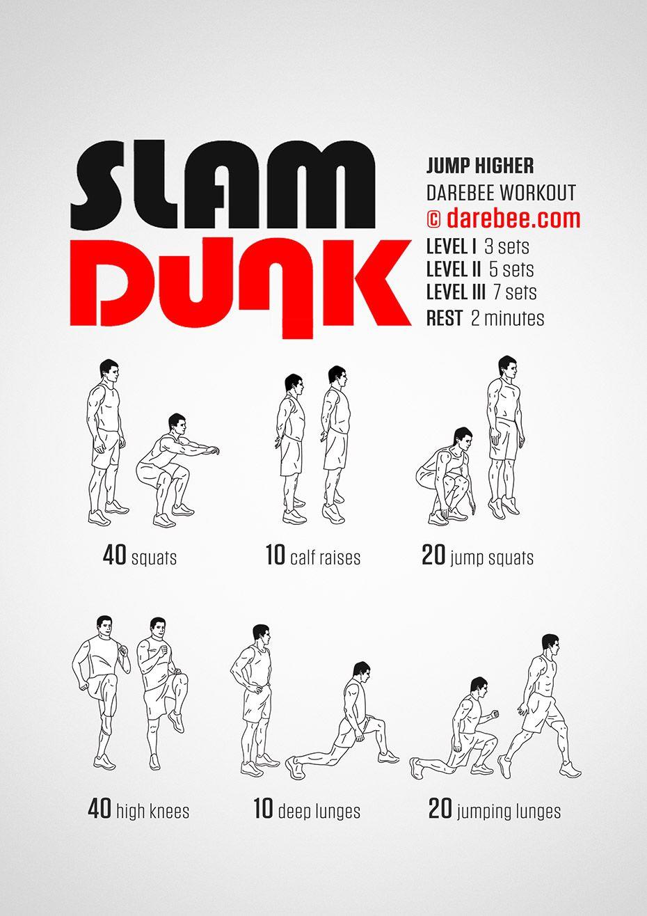 Slam Dunk Workout | Body Weight Exercises | Pinterest ...