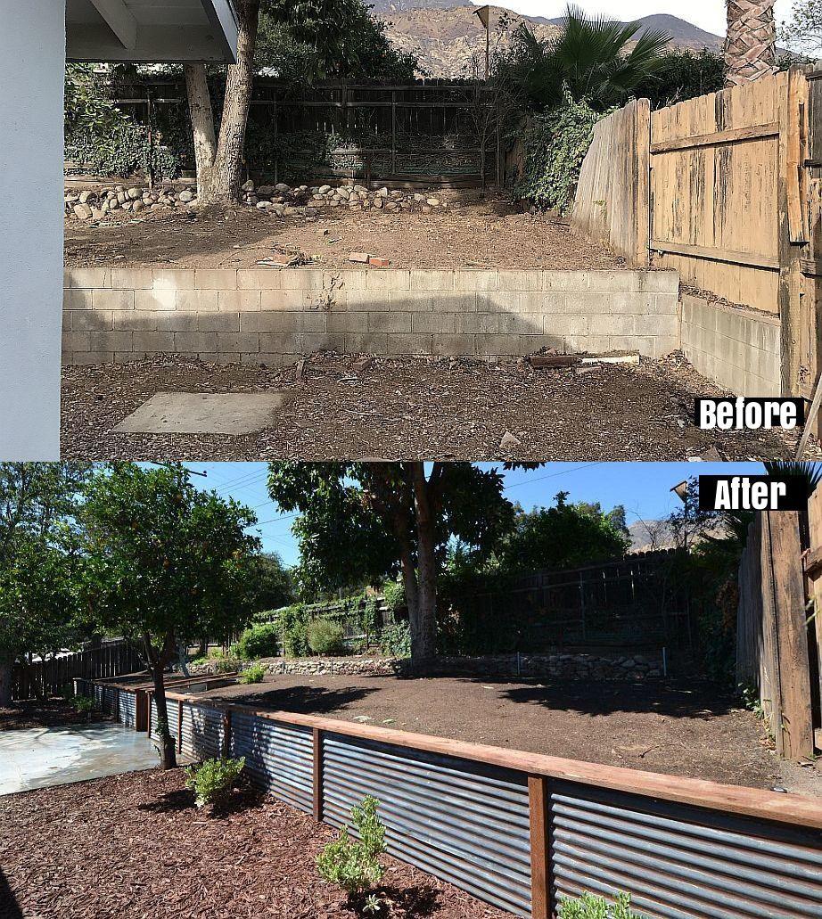 Frugal Fashion Sense Fence Landscaping Retaining Walls Backyard Retaining Walls Fence Design