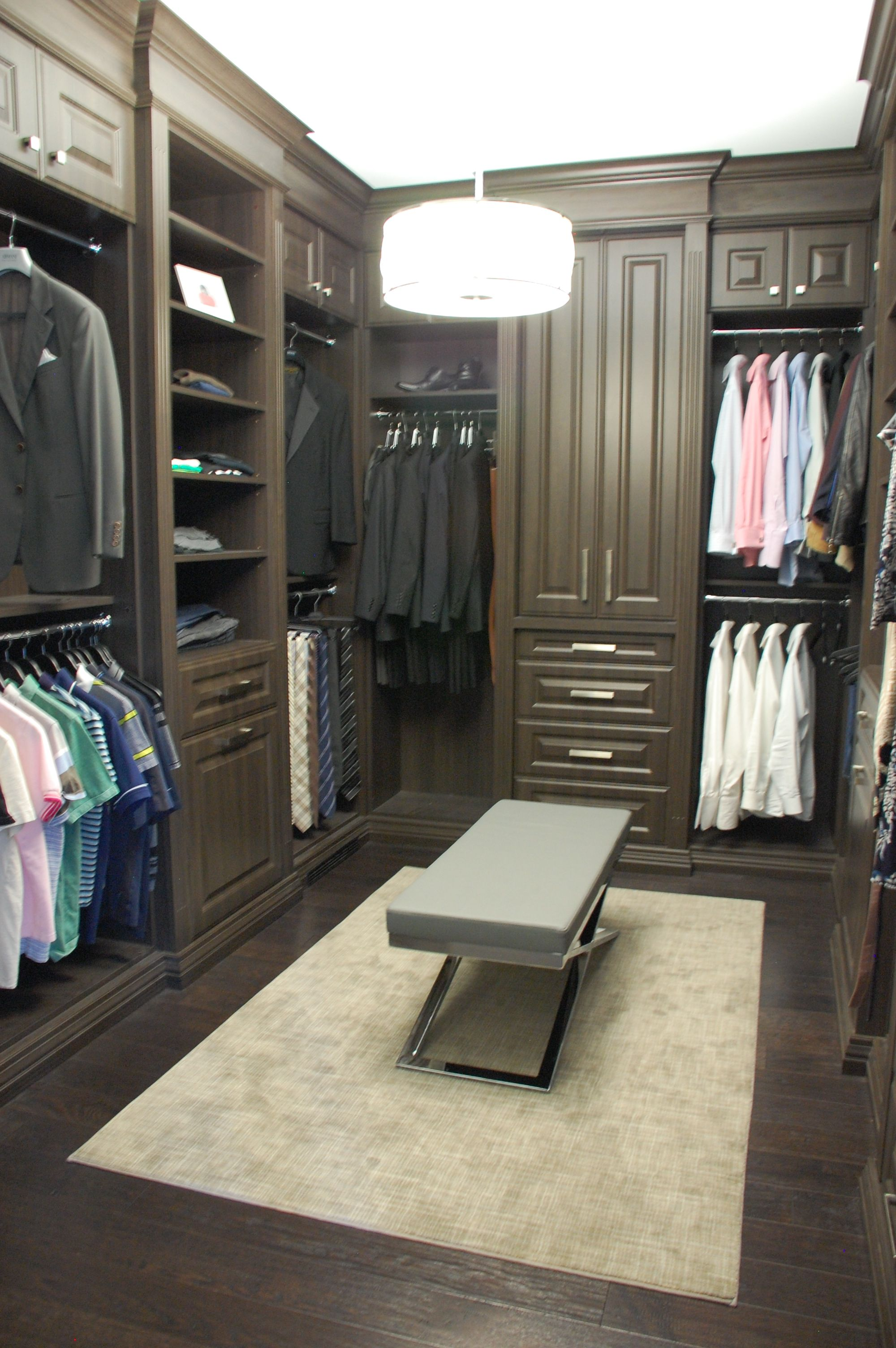 Master bedroom   KDDI   Custom walk in closet  Croc ottoman. KDDI   Custom walk in closet  Croc ottoman   Kate Davidson Design