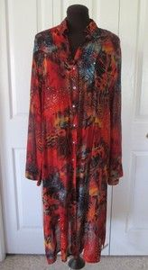 CHICO'S DESIGN Artsy Colorful Animal Geometric Duster Jacket Blouse 2