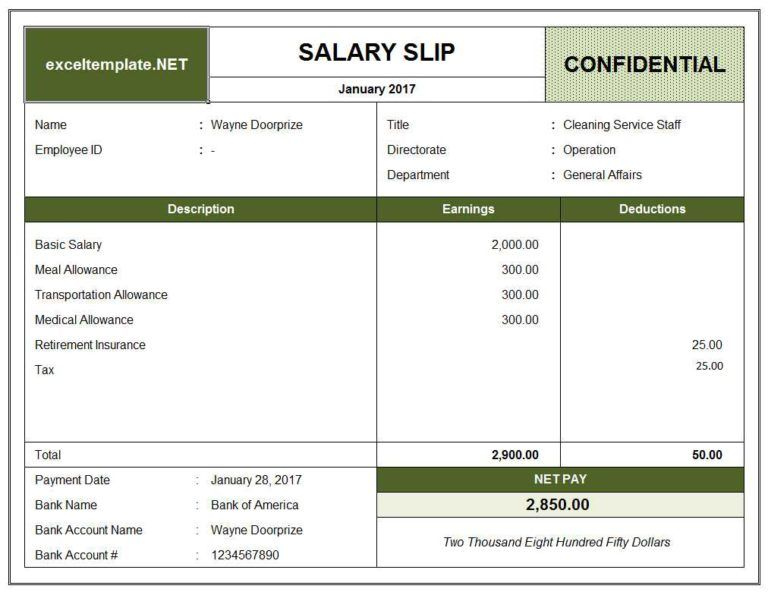 Pay Stub Template Payroll Template Invoice Template Excel