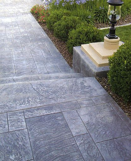 Patio Landscaping, Stamped Concrete