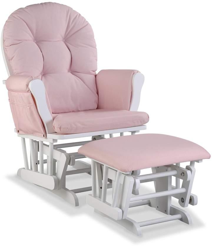 Storkcraft Hoop Custom Glider Chair Ottoman Set Glider