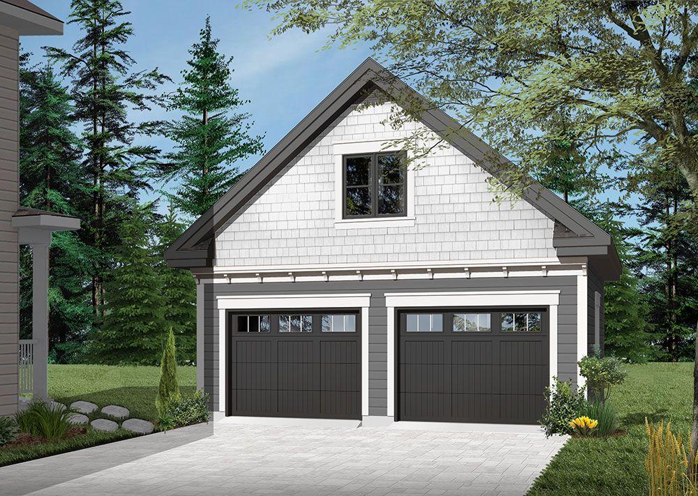 Traditional twocar garage with bonus room Garage plans