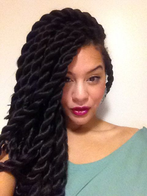 Havana twists with xpression hair google search natural hair pinterest hair style - Crochet braids avec xpression ...