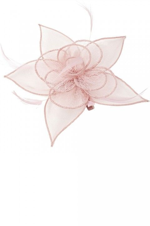 BHS Pale Pink Organza Rose Clip bf018d5b8db