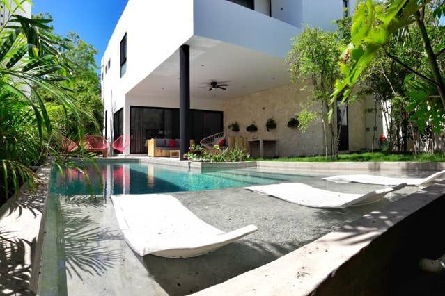 GORGEOUS TROPICALMODERN HOUSE wextralarge pool  Houses for Rent in Tulum Qu GORGEOUS TROPICALMODERN HOUSE wextralarge pool  Houses for Rent in Tulum Quintana Roo Mexico