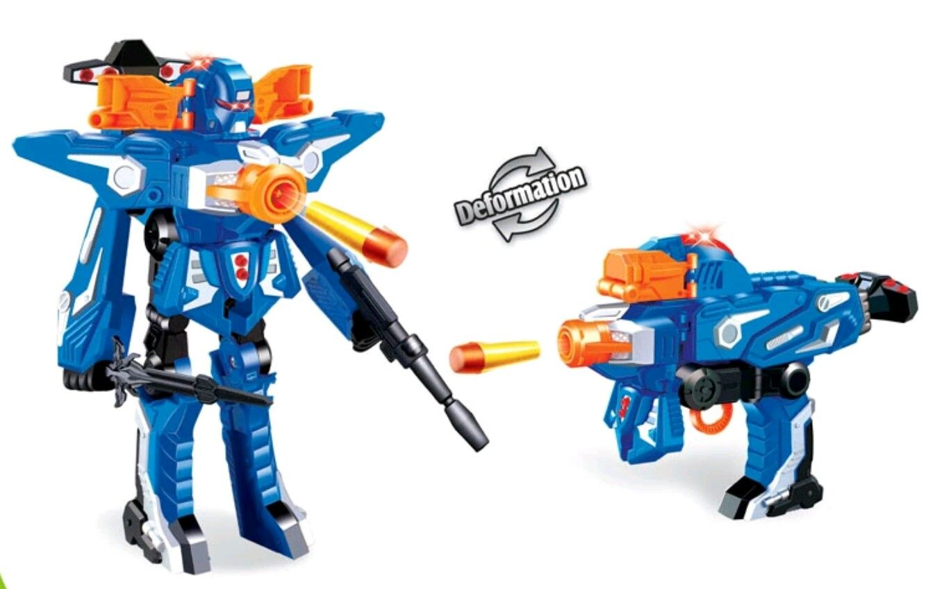 Cool 2in1 Transformer/Soft Bullet Gun, Foam Dart Blaster Toy, Kids Nerf Gun