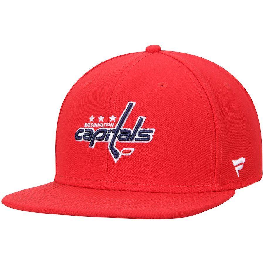 Men s Washington Capitals Fanatics Branded Red Emblem Snapback Adjustable  Hat 557bcdbde
