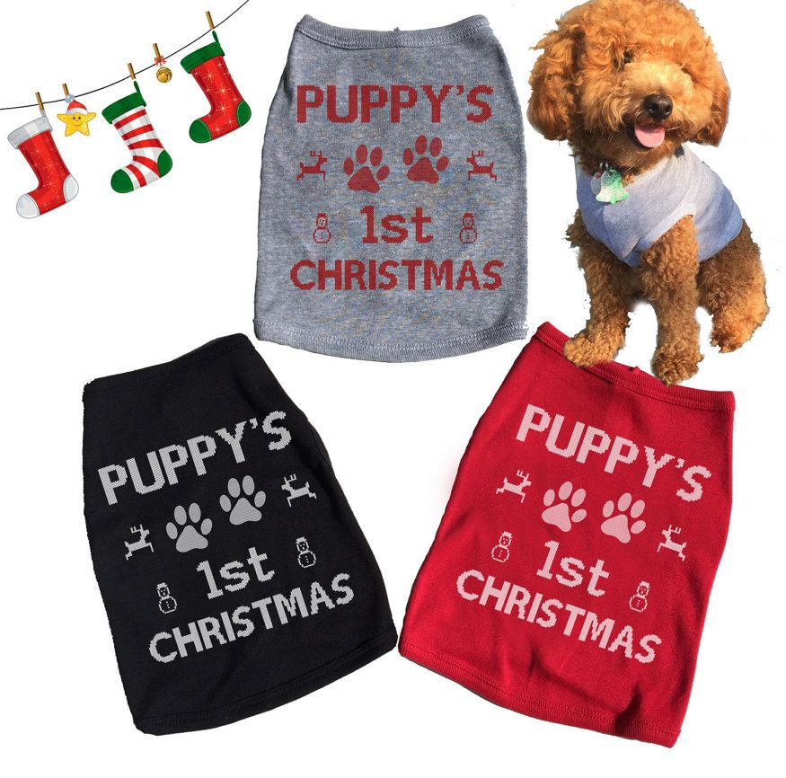 Dog Christmas Sweater.Cute Puppy S First Christmas Dog Sweater Fur Babies