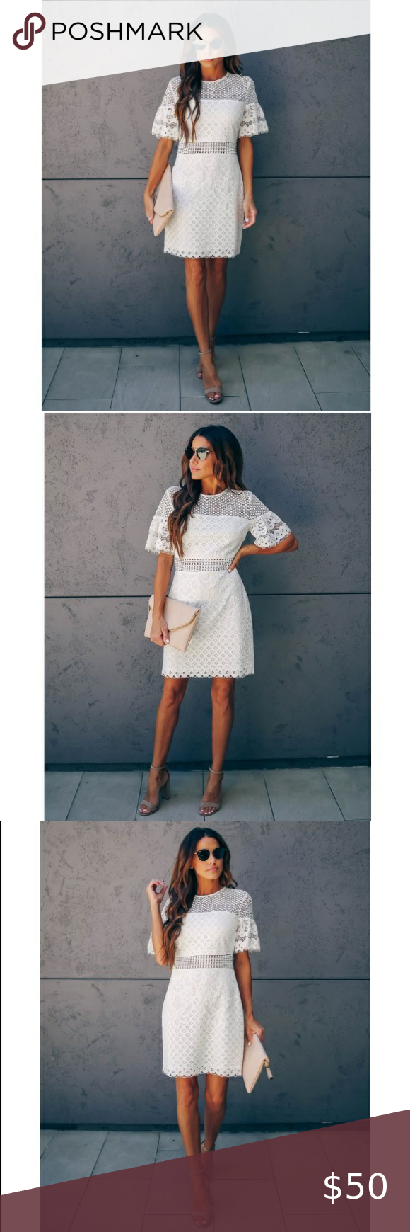 Vici Collection White Corsage Lace Dress Mini Dress With Sleeves Grey Long Sleeve Dress Lace Bell Sleeve Dress [ 1740 x 580 Pixel ]