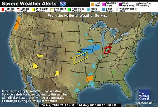 Us Severe Weather Alerts Map US Severe Weather Alerts | Weather projects, Severe weather