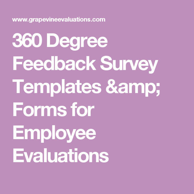 360 Employee Evaluation Forms Available in Feedback Software | 360 ...
