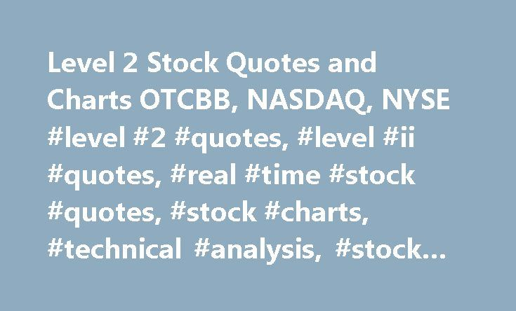 Level 2 Stock Quotes Interesting Level 2 Stock Quotes And Charts Otcbb Nasdaq Nyse #level #2
