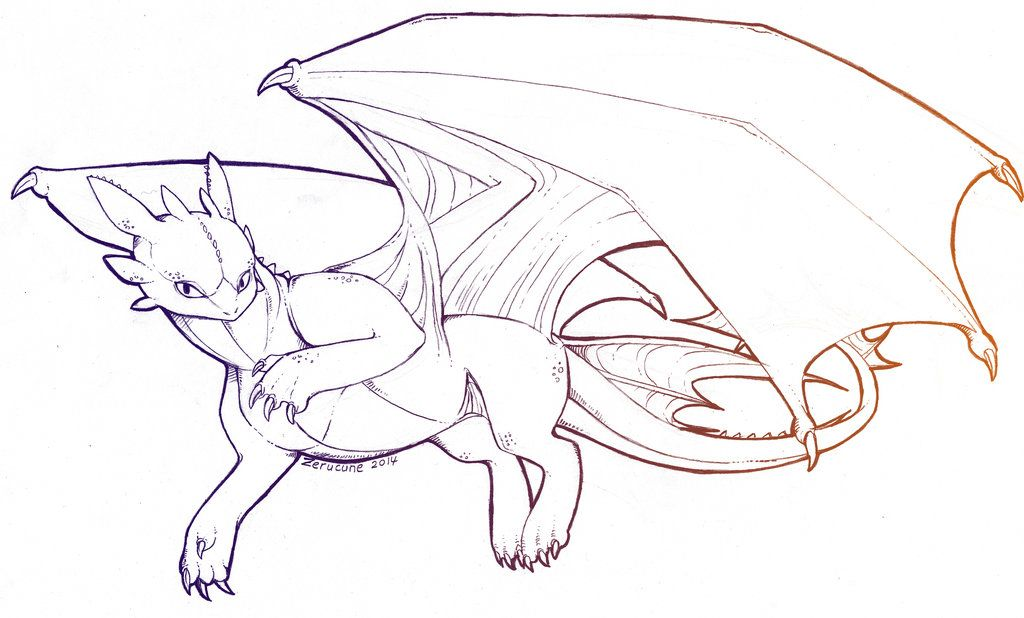 Image result for toothless lineart | How to train your ...