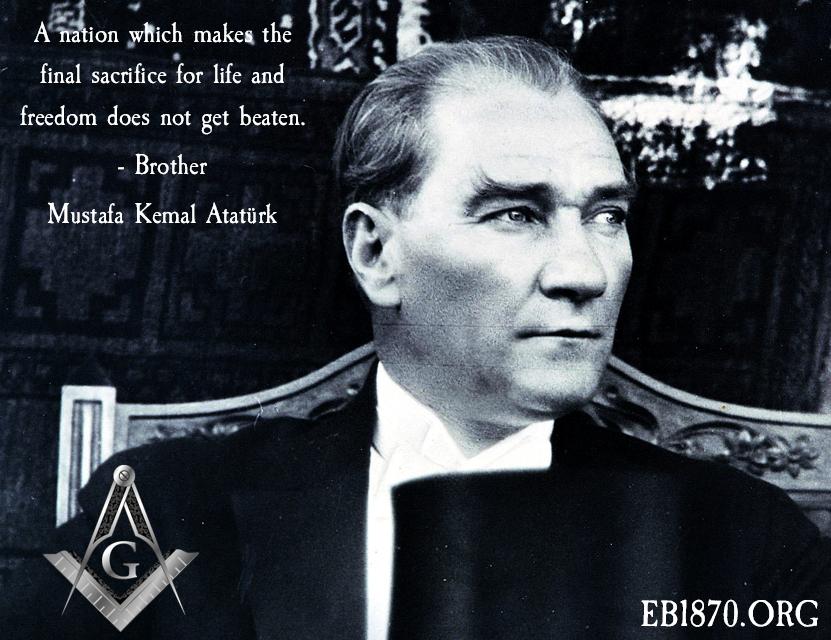 Famous Freemason Mustafa Kemal Ataturk Turkish Army The Republic Mustafa Kemal Ataturk