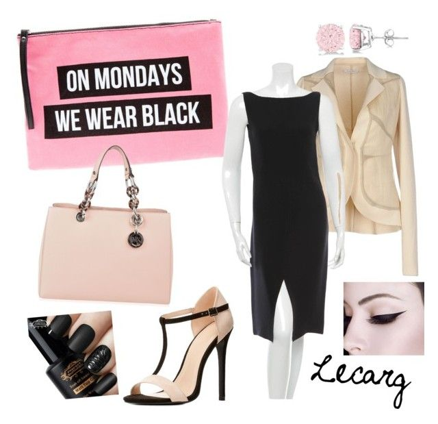 """""""On Mondays We Wear Black"""" by lecarg0830 on Polyvore featuring Gentryportofino, Valentino, MICHAEL Michael Kors, Charlotte Russe and Allurez"""