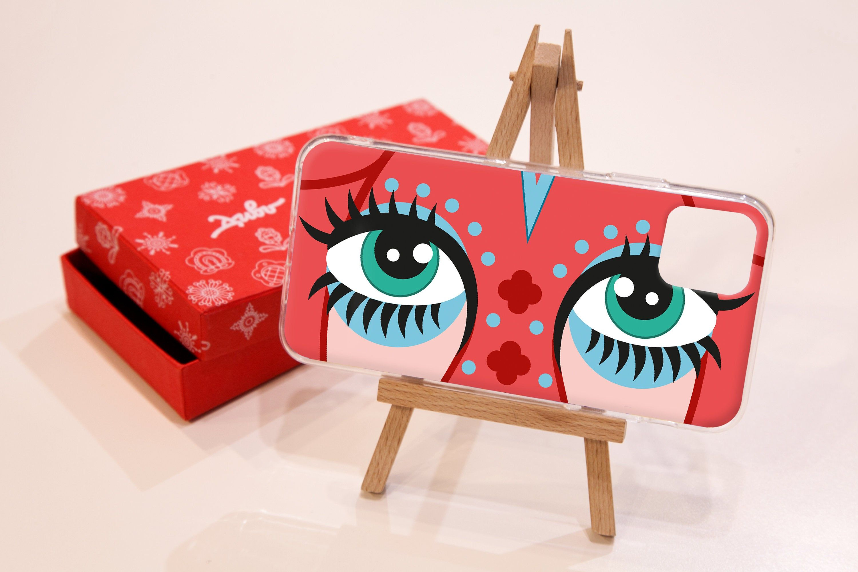 Cow eyes art phone case iphone 11 pro max x xs xr 8 7