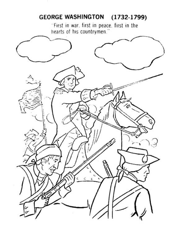 George Washington Lead American Revolution Flag Coloring Pages Bulk Color Flag Coloring Pages Coloring Pages For Kids Coloring Pages