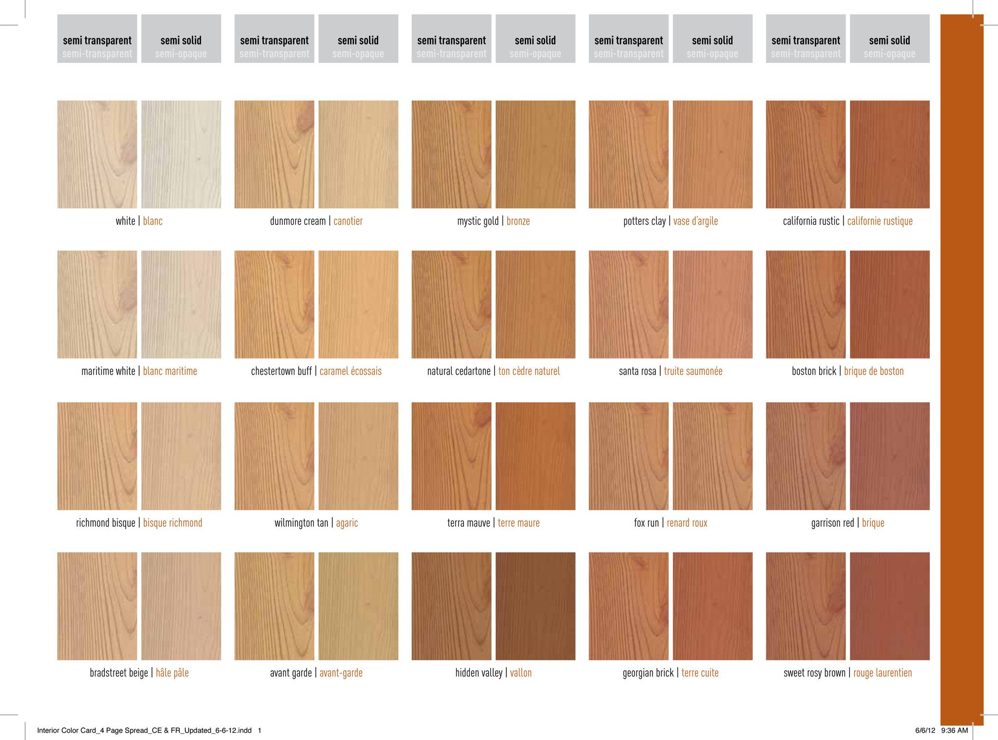 Benjamin Moore Interior Wood Stain Color Chart