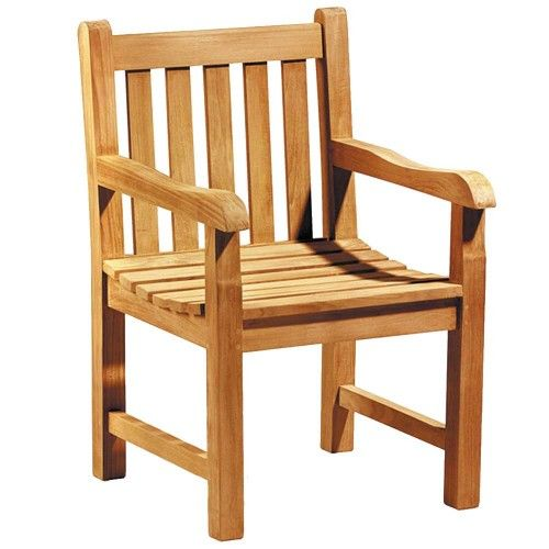fauteuil teck massif brut et coussin. pour jardin ou intérieur ...