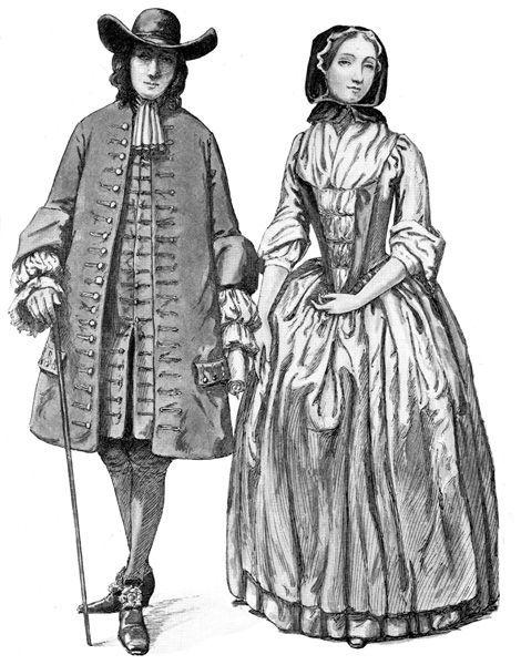 1700 quaker dress pictures