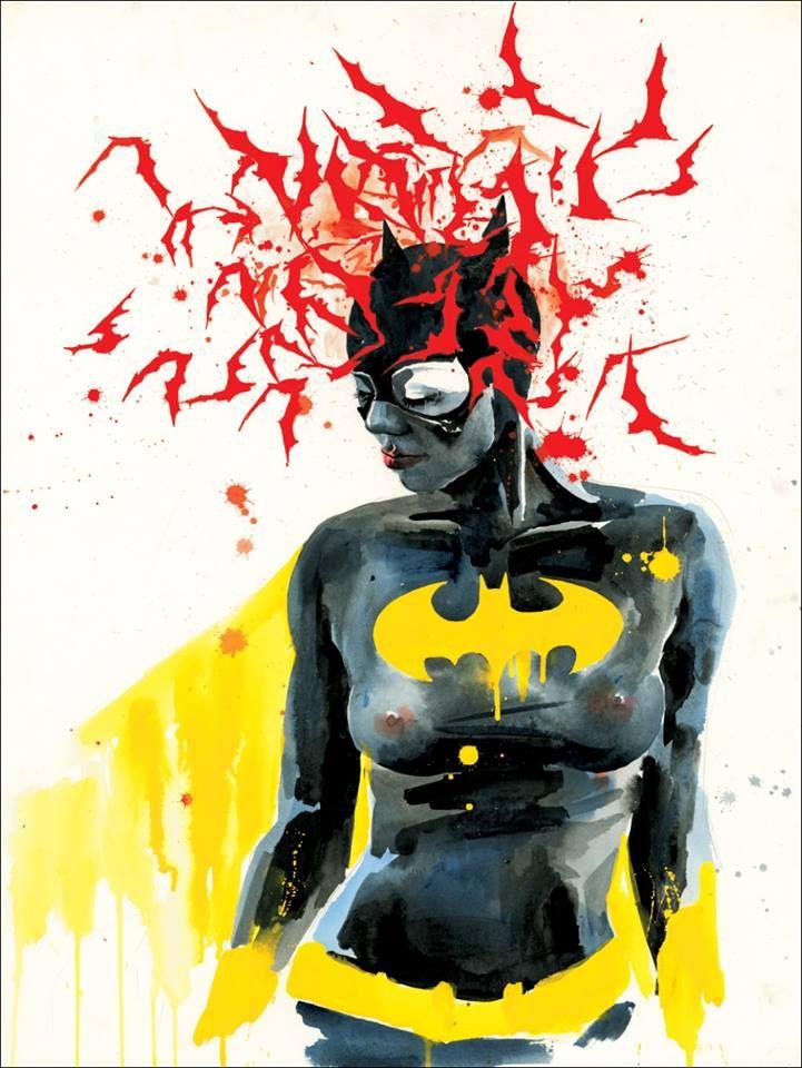 """""""Bat Girl"""" print by Lora Zombie"""