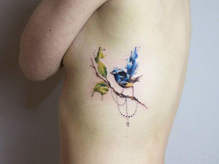 15 of the best bird tattoo ideas ever branch tattoo tattoo rh pinterest com love bird on a branch tattoos bird on a tree branch tattoo