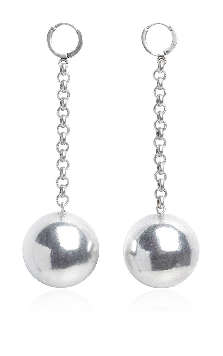 Silver Ball Drop Earrings by ISABEL MARANT for Preorder on Moda Operandi