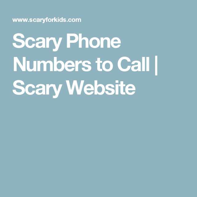 Numbers To Call, Phone Numbers, Numbers