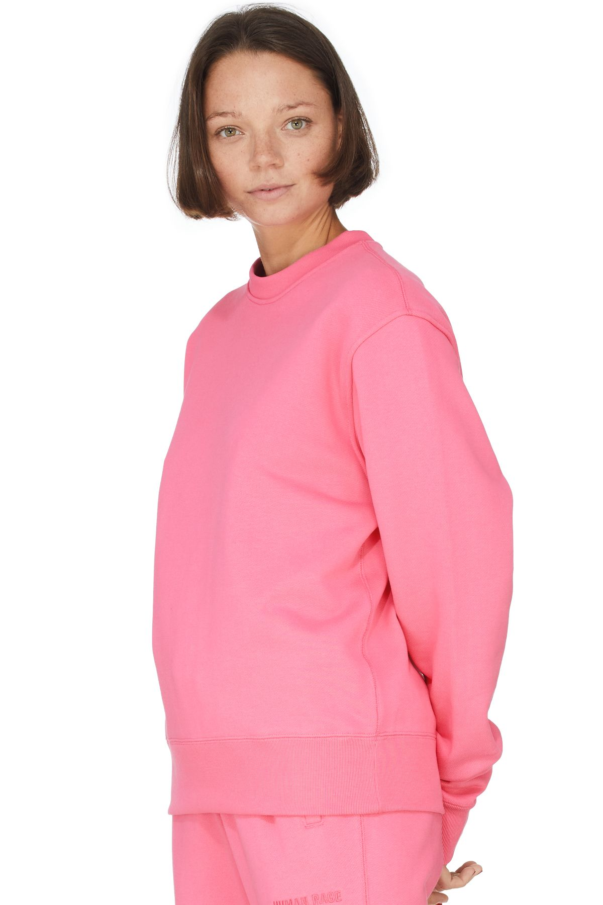 Adidas Originals X Pharrell Williams Pharrell Williams Basics Crew Sweater Semi Solar Pink Pharrell Williams Crew Sweaters Pharrell [ 1800 x 1200 Pixel ]