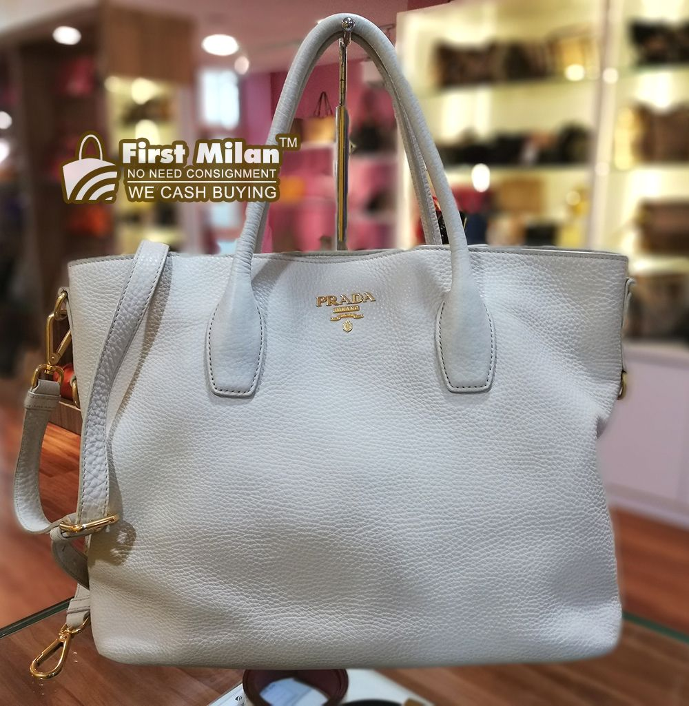 36fbdcbfcb PRADA Vitello Daino Leather Tote Bag. Best Price ~ RM2