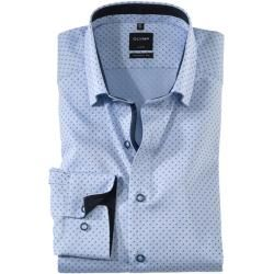 Olymp Luxor Hemd, modern fit, Under-Button-down, Bleu, 45 Olymp