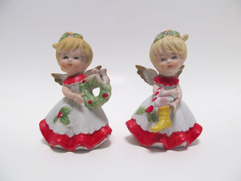 Vintage Homco Christmas Angel Figurines Homco Figurines 5402