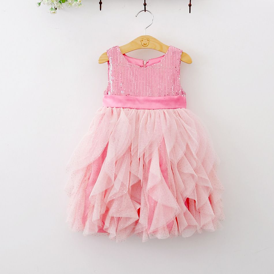 Baby girl pink sequin dress - Find This Pin And More On 1000 Ideas Of Baby Girls Frocks Designs 2017 18 Party Dress Beach Dress Green Pink