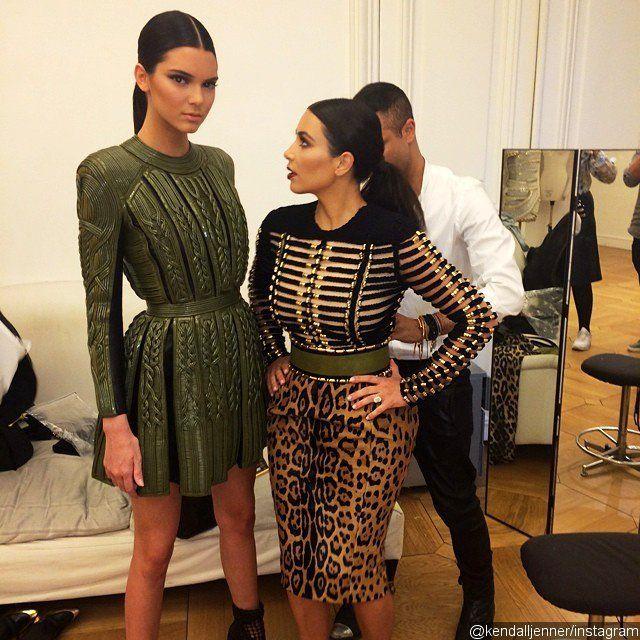 Kendall Jenner Jokes About Kim Kardashian 39 S Height 39 She Looks Up Female Celebrity Fashion Fashion Celebrity Style