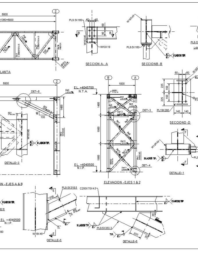 Steel Structure Details 3 Free Autocad Blocks Drawings Download Center Steel Structure Steel Structure Buildings Structure Design