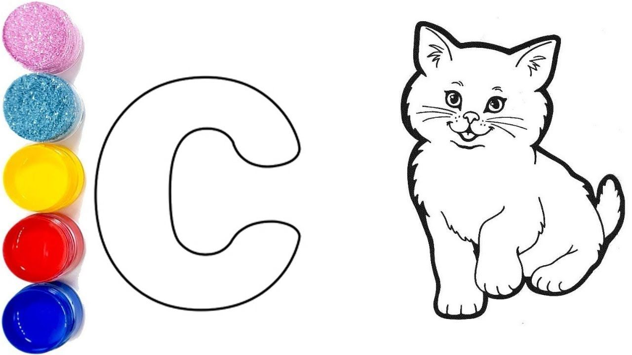 C For Cat Cat Coloring Pages Cat Drawing And Coloring Pages For Kids Kids Coloring Cats Draw Coloring Pages Cat Cat Coloring Page Santa Coloring Pages