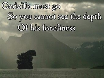 Image result for Godzilla loneliness