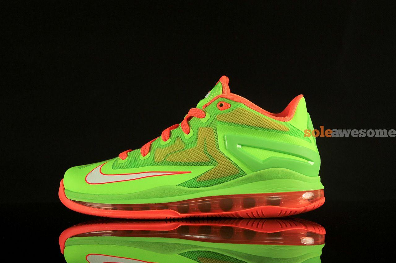 3b5a5f1ecdae Nike LeBron XI Low GS - Volt Bright Orange