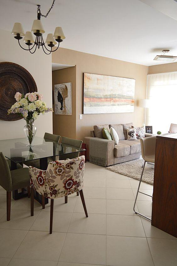 Decoracion de comedor y sala juntos en espacio pequeño Decoracion - sala comedor pequeo