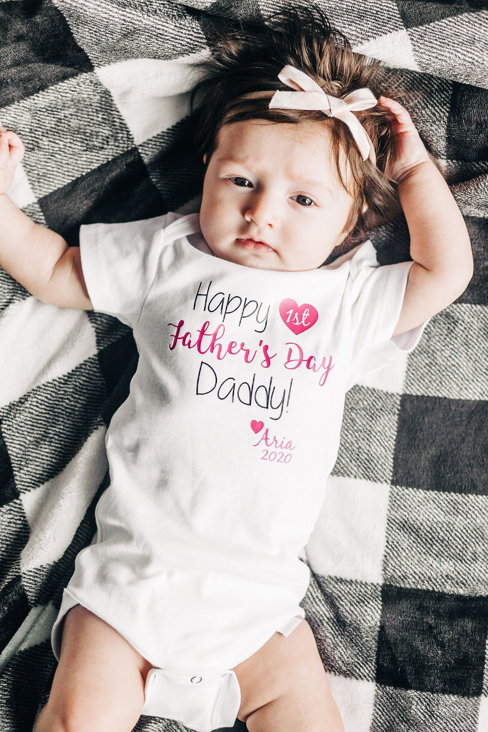 Fathers day gift from daughter first fathers day baby girl
