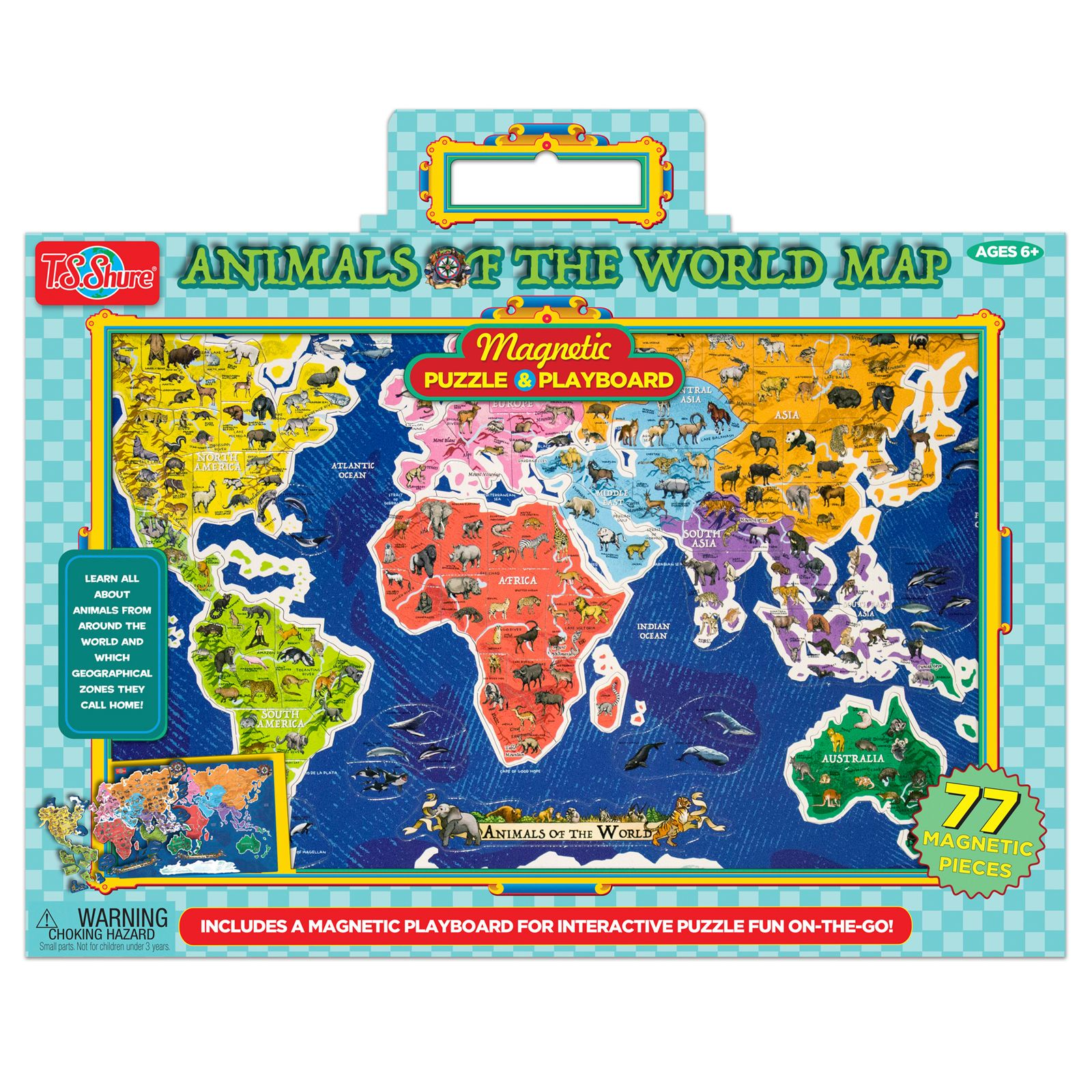 TS Shure Animals of the World Map Magnetic Playboard and ...