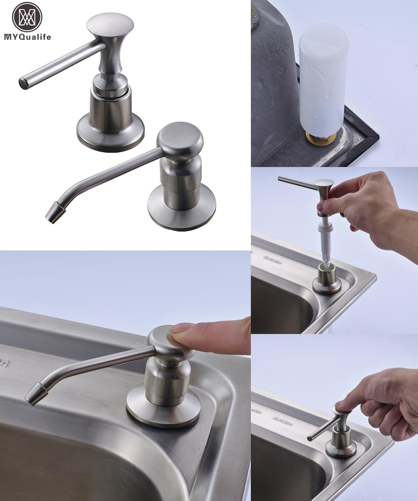 Visit To Buy Brushed Nickel Kitchen Sink Soap Dispenser Stainless Enchanting Kitchen Sink Soap Dispenser Design Decoration