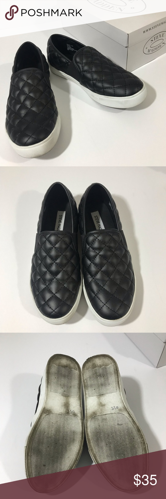a2bf254db14 Steve Madden Endell Black Slip Ons Size 6.5 From my personal closet  worn  once and