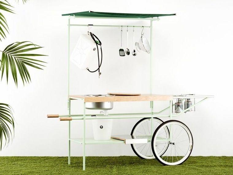 Cuisine de jardin, confort et luxe extrême - photo cuisine exterieure jardin